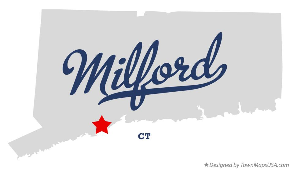Map of Milford, CT, Connecticut