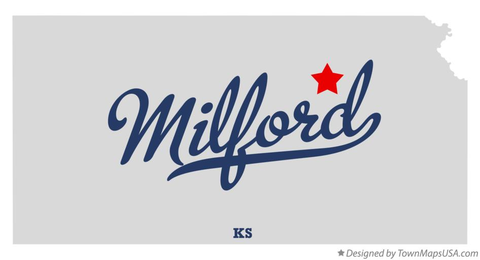 Map of Milford Kansas KS