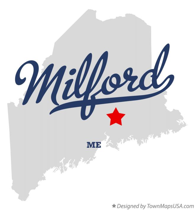 Map of Milford Maine ME