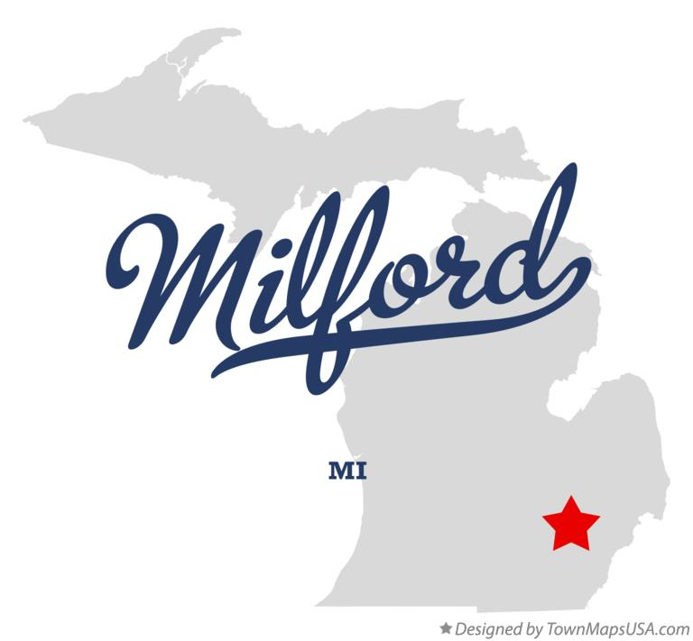 Map of Milford Michigan MI