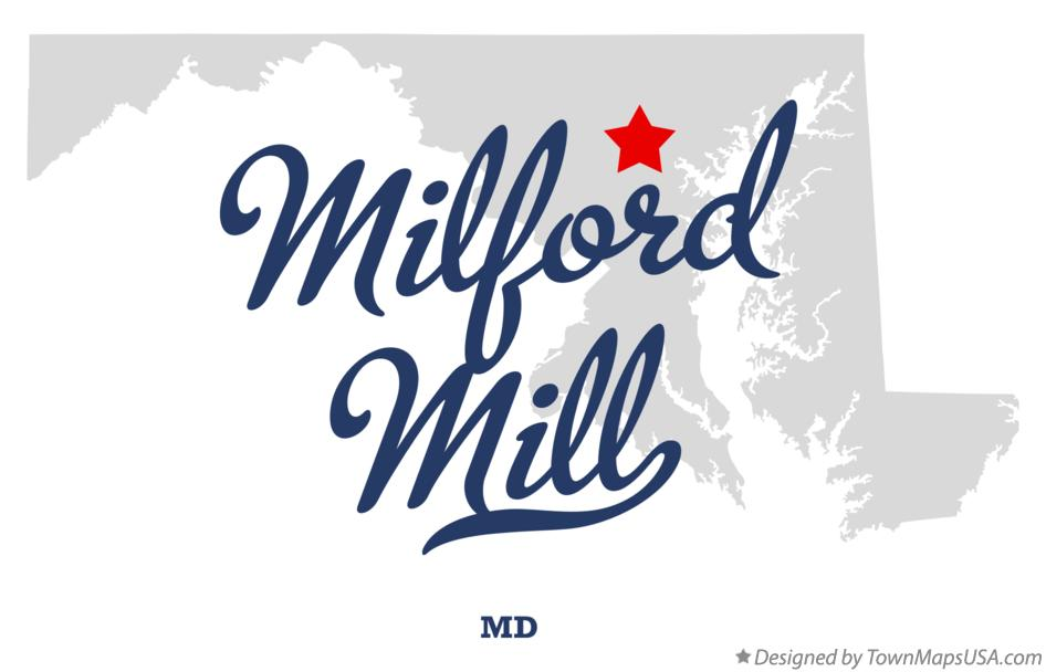 Map of Milford Mill Maryland MD