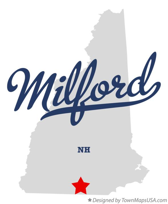 Map of Milford New Hampshire NH