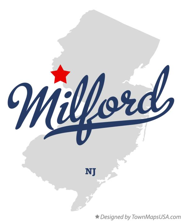 Map of Milford New Jersey NJ