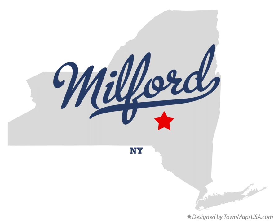 Map of Milford New York NY