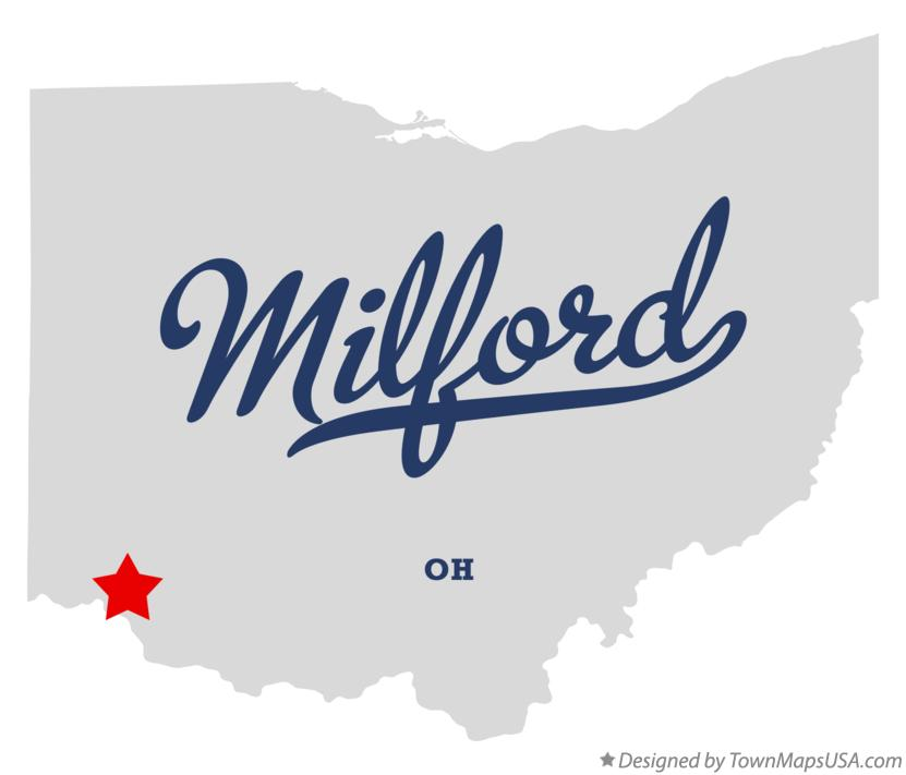 Map of Milford Ohio OH