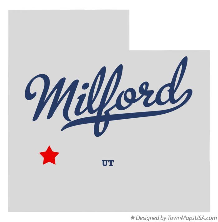 Milford Utah Map.Map Of Milford Ut Utah