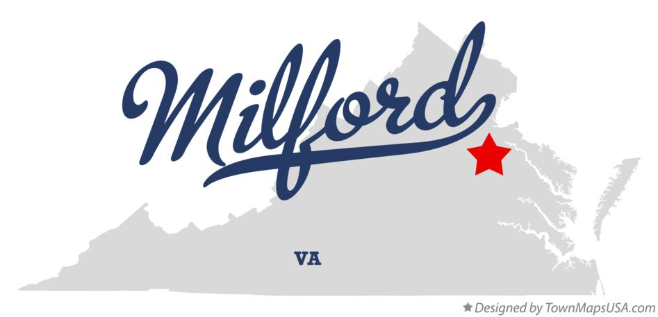 Map of Milford Virginia VA