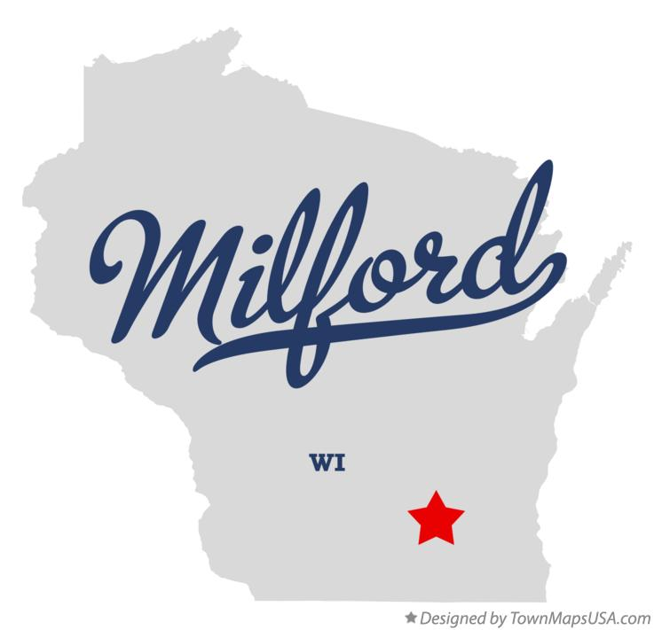 Map of Milford Wisconsin WI