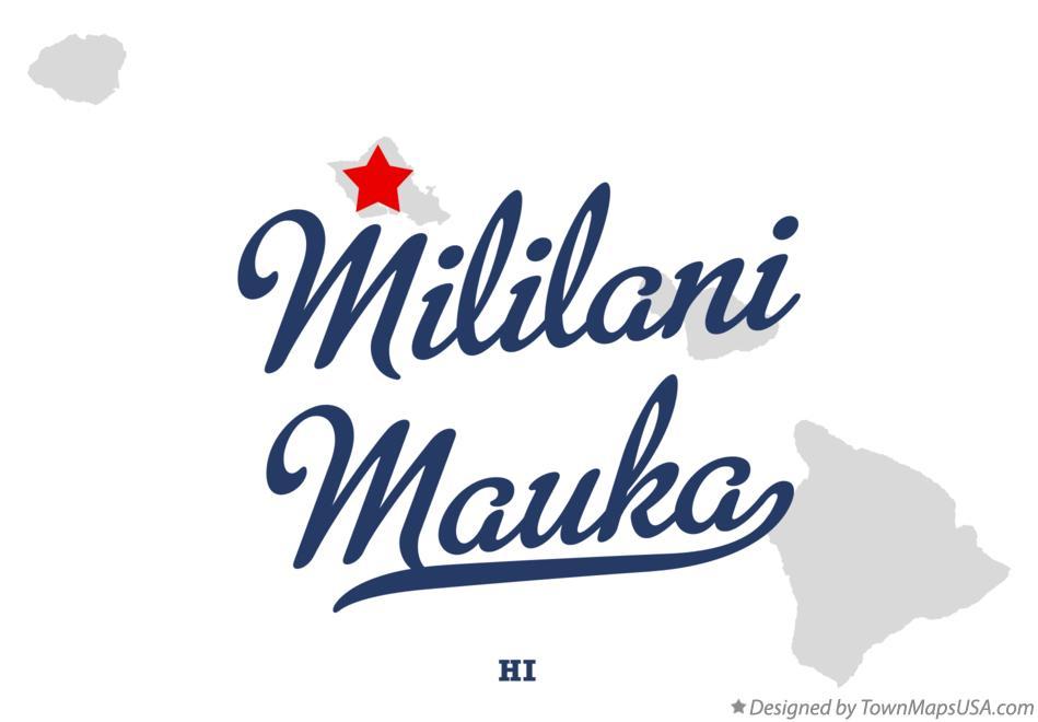 Map of Mililani Mauka HI Hawaii