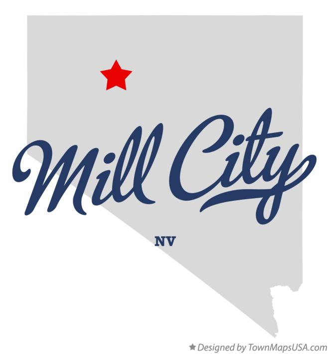 Map of Mill City Nevada NV