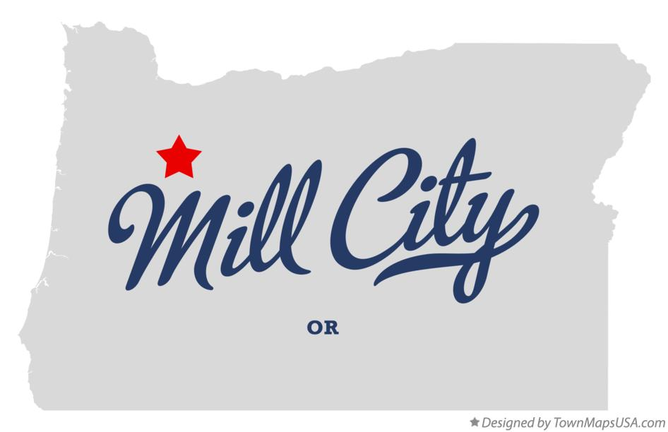 Mill City Oregon Map.Map Of Mill City Or Oregon