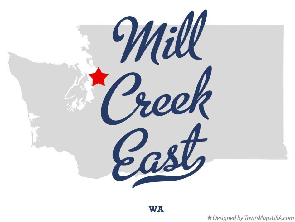 Map of Mill Creek East Washington WA