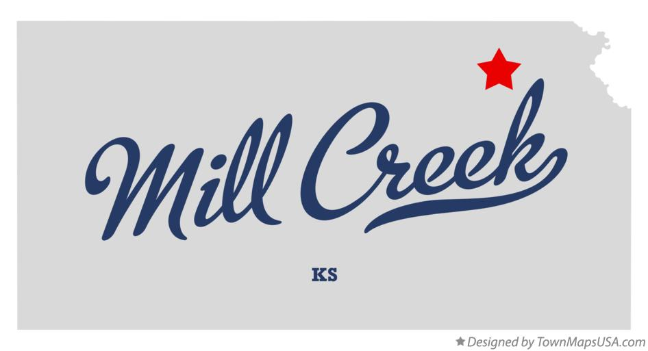 Map of Mill Creek Kansas KS
