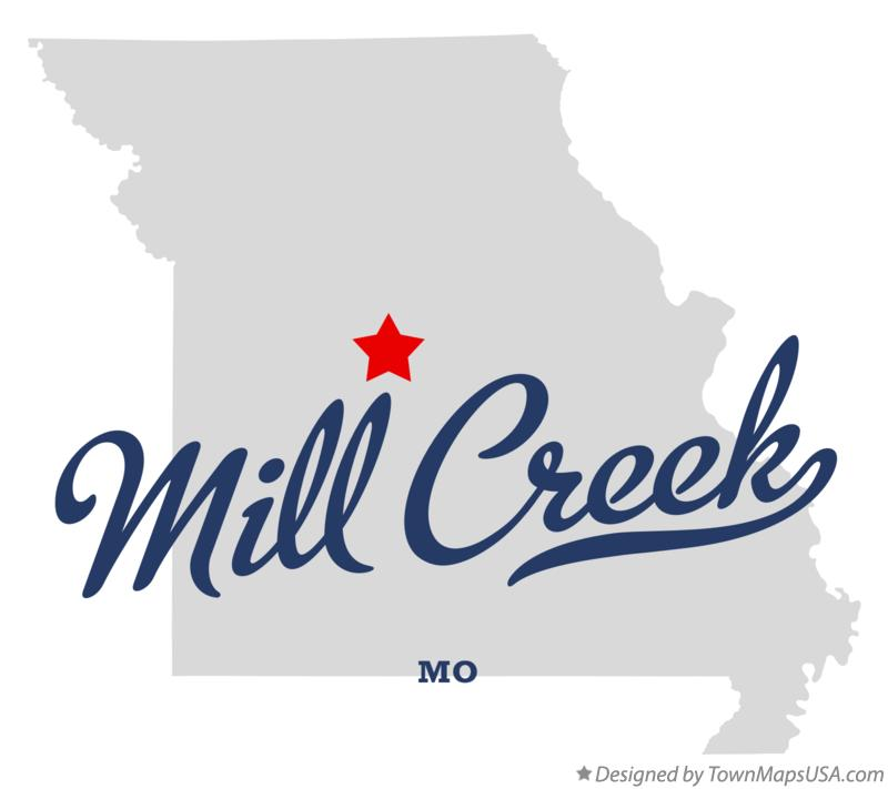 Map of Mill Creek Missouri MO