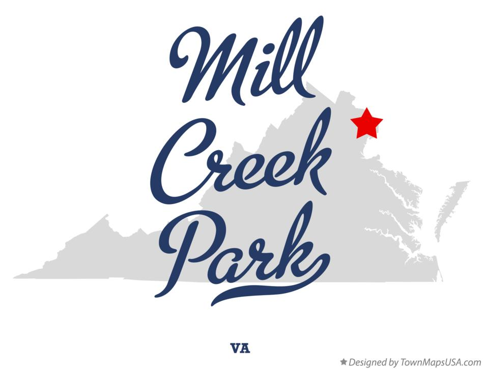Map of Mill Creek Park Virginia VA