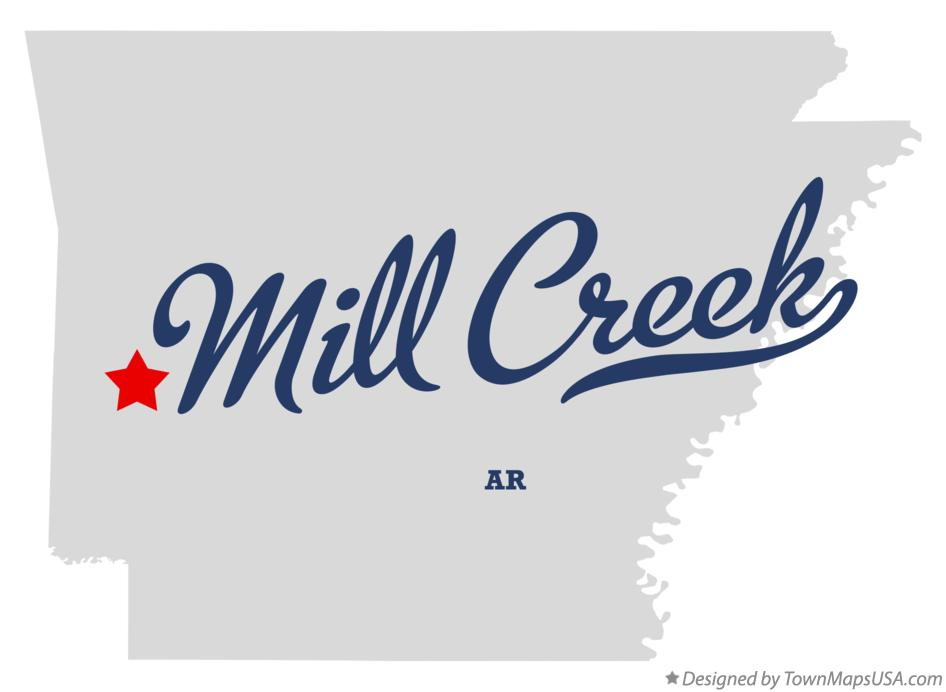 Map of Mill Creek Arkansas AR