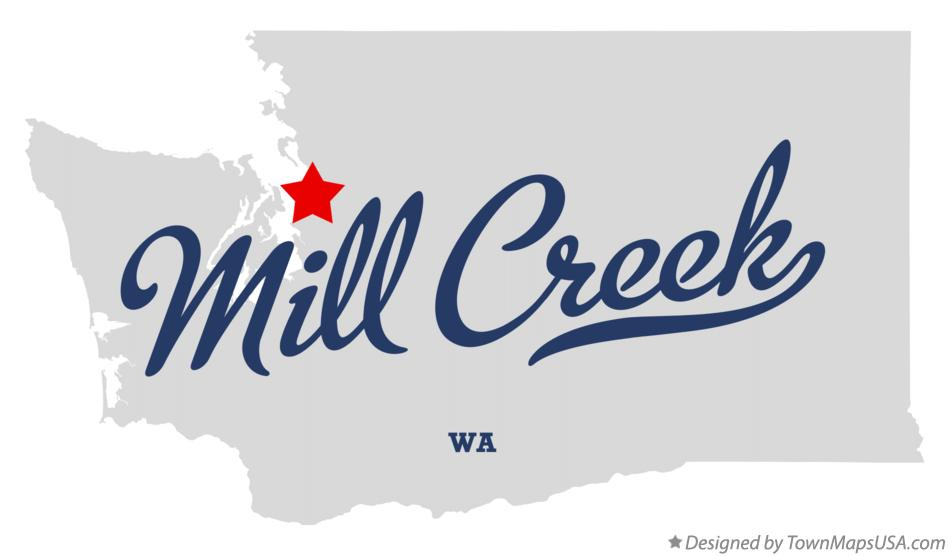 Map of Mill Creek Washington WA