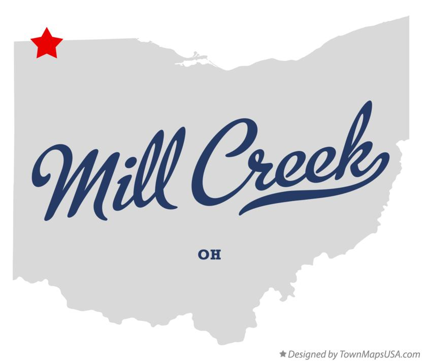 Map of Mill Creek Ohio OH