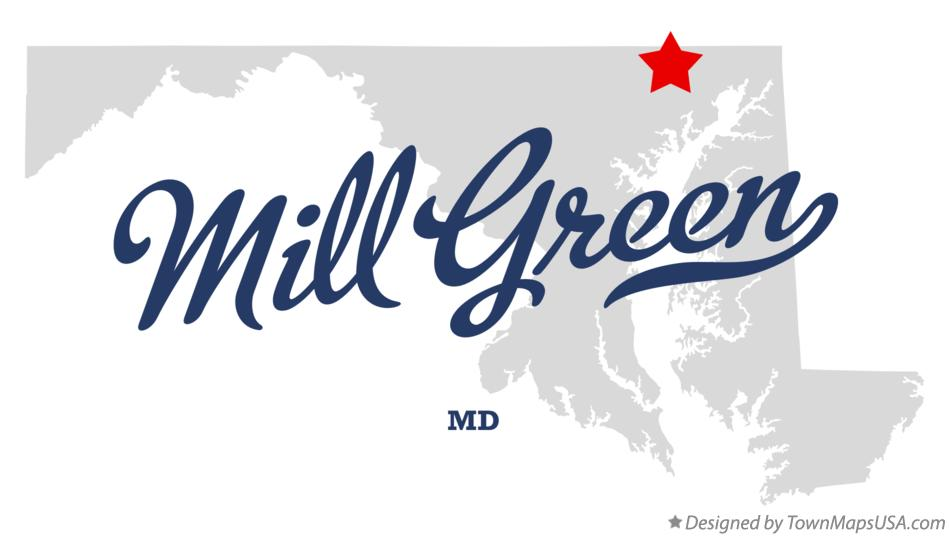 Map of Mill Green Maryland MD