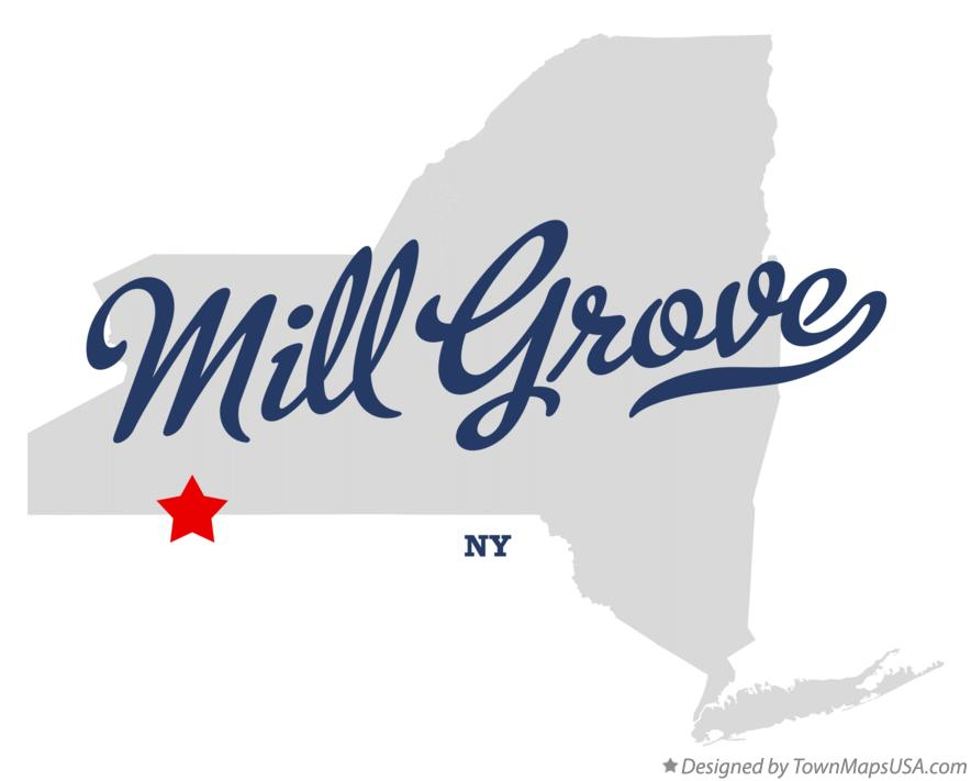 Map of Mill Grove New York NY