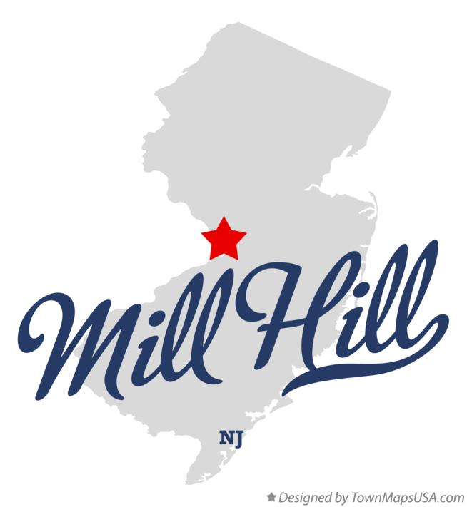 Map of Mill Hill New Jersey NJ