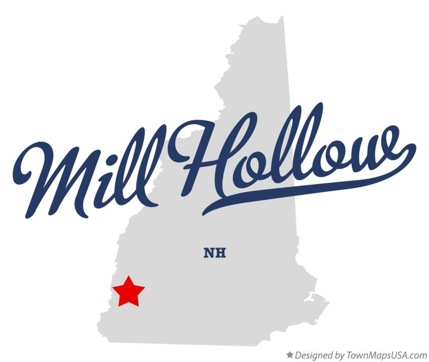 Map of Mill Hollow New Hampshire NH