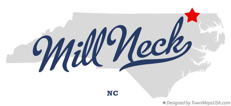 Map of Mill Neck North Carolina NC