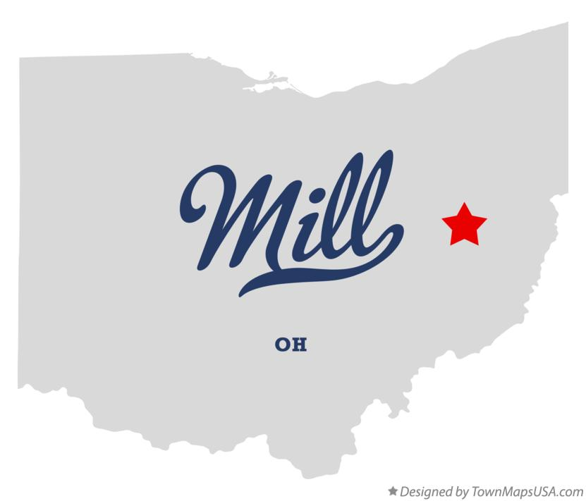 Map of Mill Ohio OH