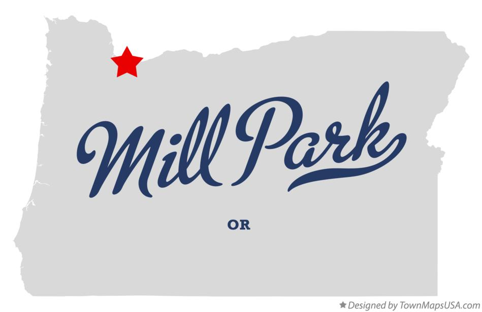 Map of Mill Park Oregon OR