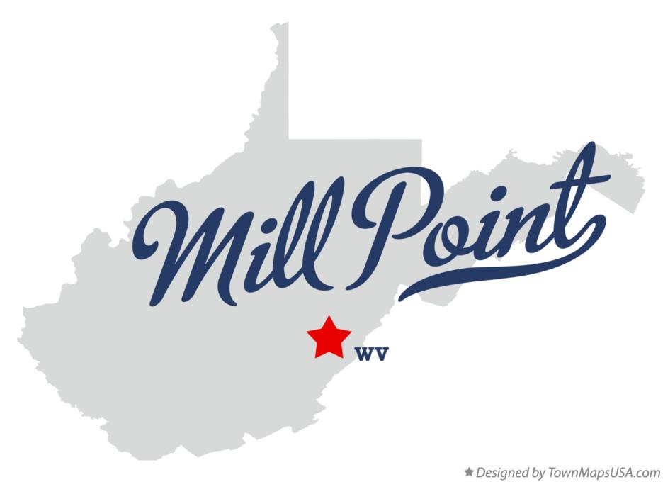 Map of Mill Point West Virginia WV