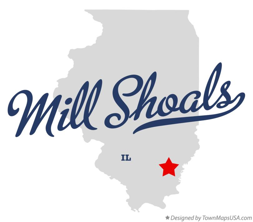 Map of Mill Shoals Illinois IL