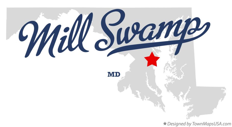 Map of Mill Swamp Maryland MD