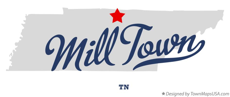 Map of Mill Town Tennessee TN