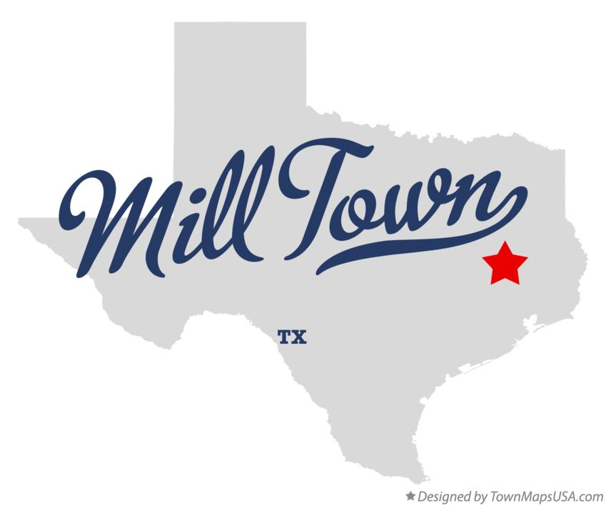 Map of Mill Town Texas TX