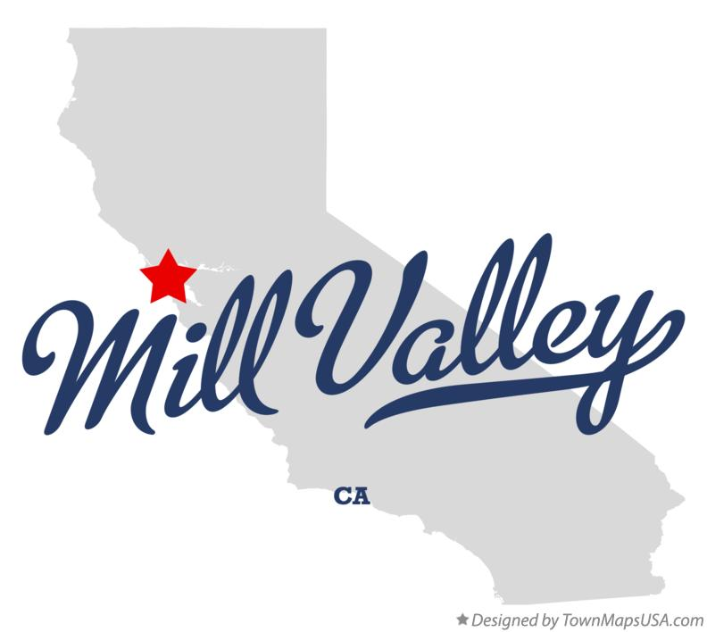 Map of Mill Valley California CA