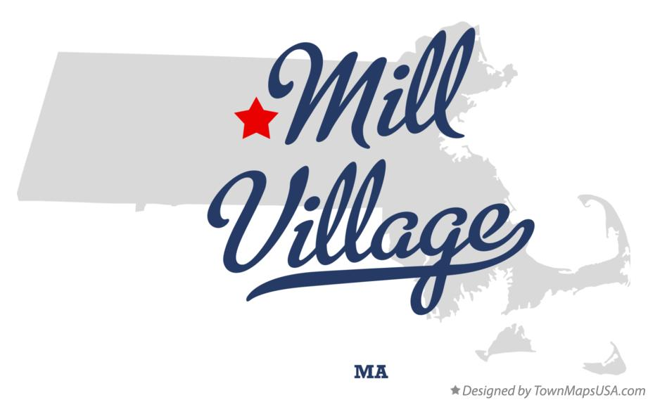 Map of Mill Village Massachusetts MA