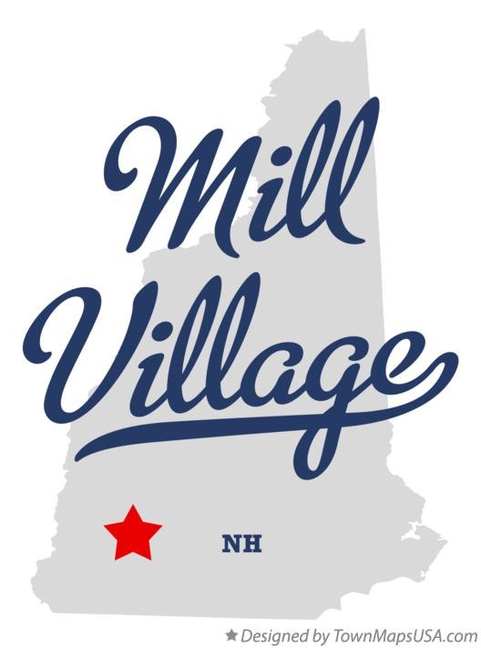 Map of Mill Village New Hampshire NH