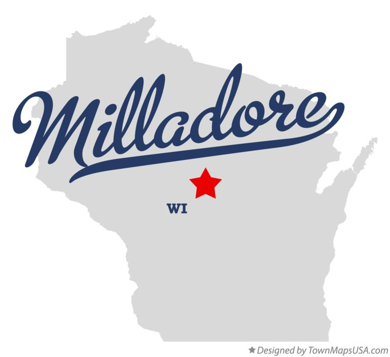 Map of Milladore Wisconsin WI