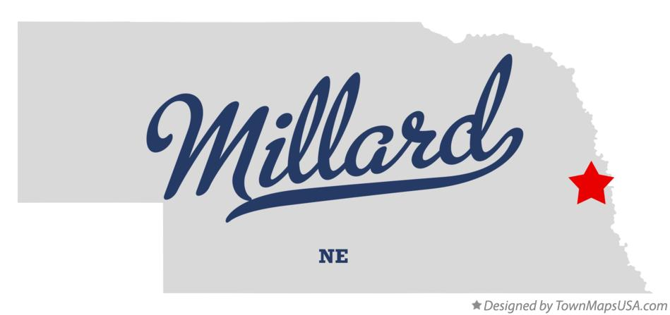 Map of Millard Nebraska NE