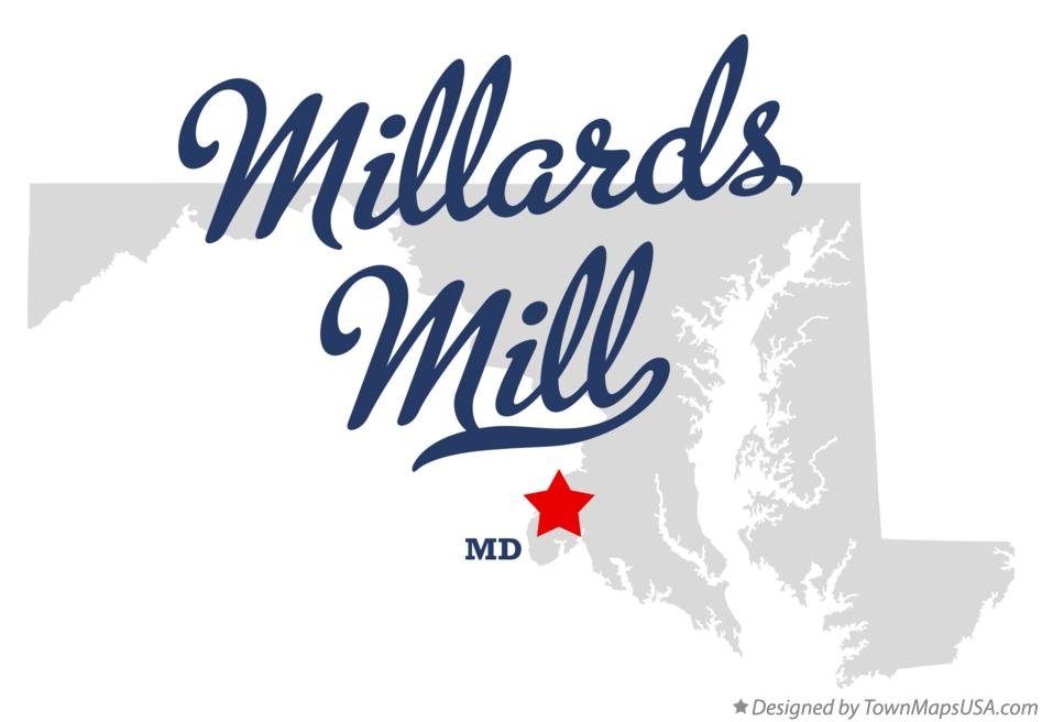 Map of Millards Mill Maryland MD