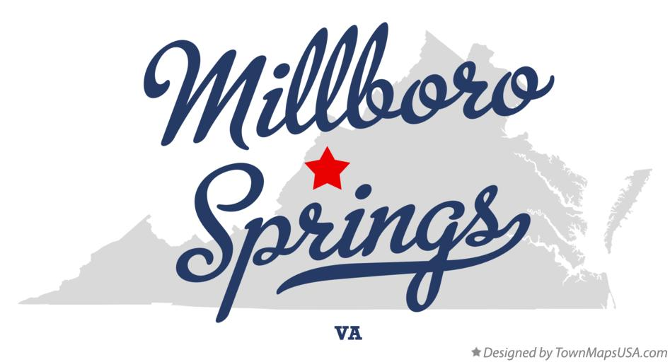 Map of Millboro Springs Virginia VA