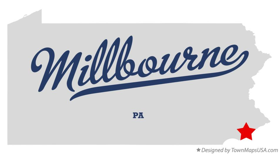 Map of Millbourne Pennsylvania PA