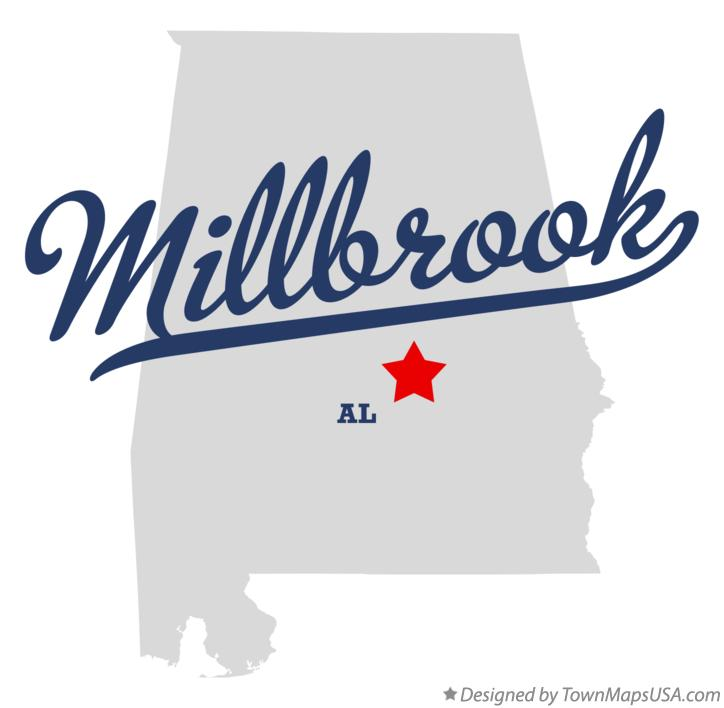 Map of Millbrook Alabama AL