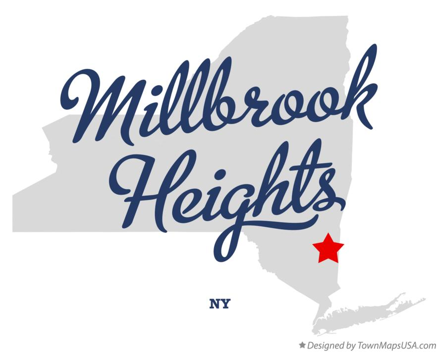 Map of Millbrook Heights New York NY