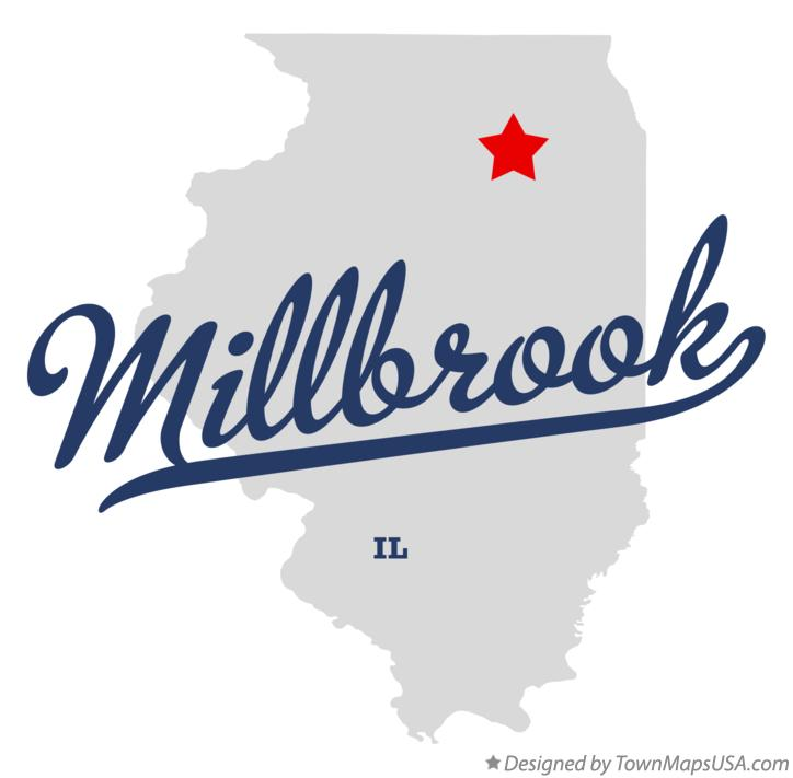 Map of Millbrook Illinois IL