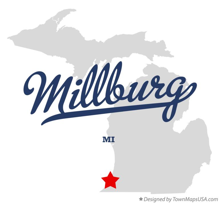Map of Millburg Michigan MI