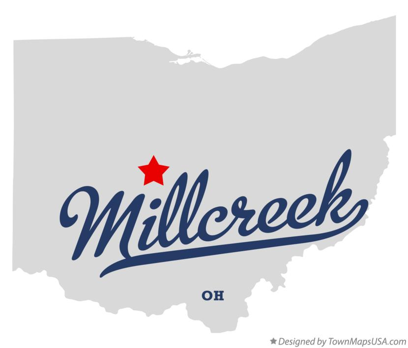 Map of Millcreek Ohio OH