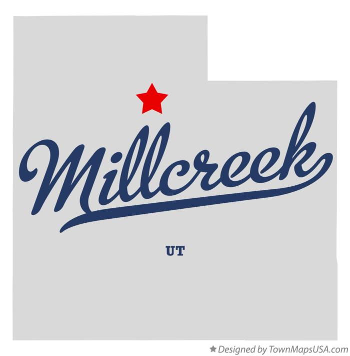 Map of Millcreek Utah UT