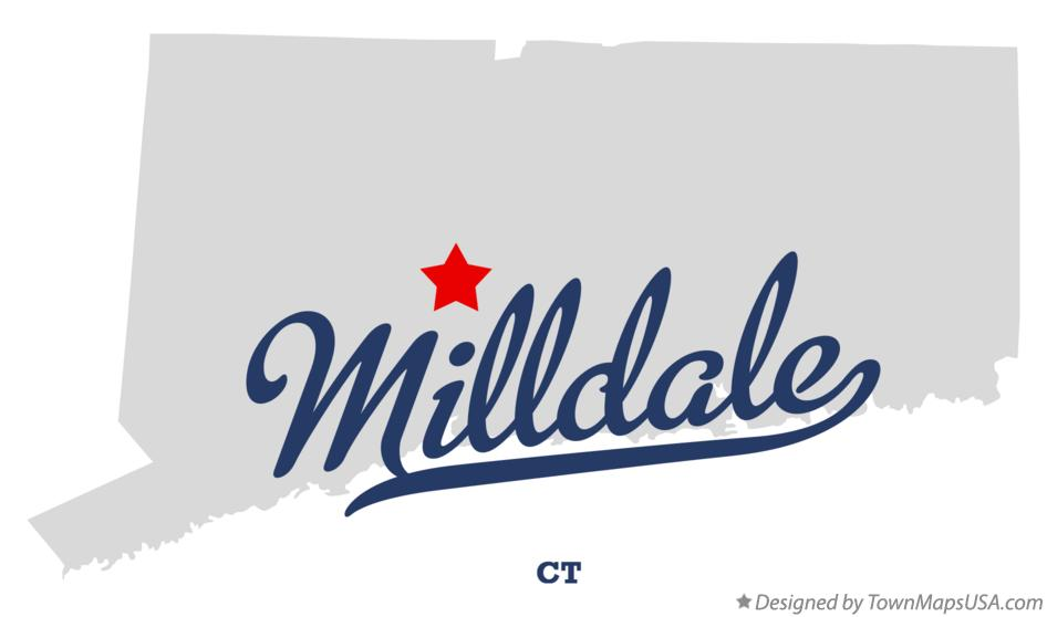 Map of Milldale Connecticut CT