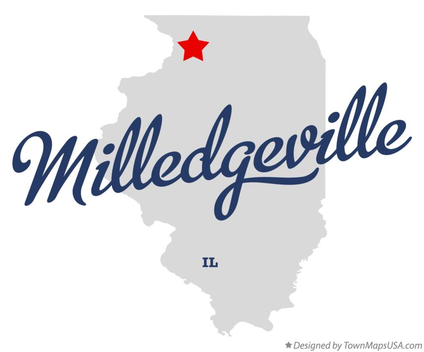 Map of Milledgeville Illinois IL